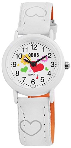 Qbos Kinderuhr Armbanduhr weiss