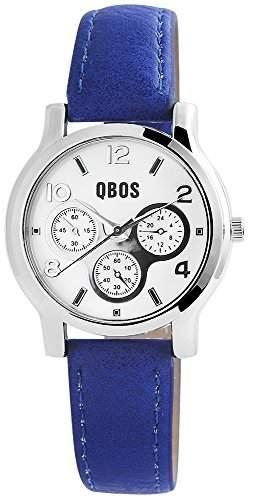 QBOS Damen-Armbanduhr Analog Quarz verschiedene Materialien RP3092300001