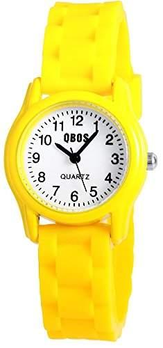 QBOS Unisex-Armbanduhr Analog Quarz Kautschuk RP4828450001