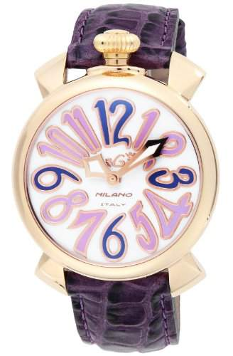 GaGa Milano Damen-Armbanduhr 40mm Armband Leder Rosa Gehäuse Gold beschichtetes Edelstahl Batterie 50214