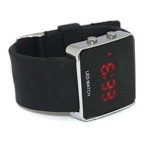 SODIALWz Spiegel Maenner u Frauen LED Digital Sport Eingeschlechtig Uhr Armbanduhr Geschenk in Scwarz