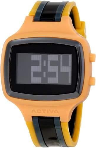 Activa Herren Plastik Armband Plastik Gehaeuse Mineral Glas Uhr AA400-023