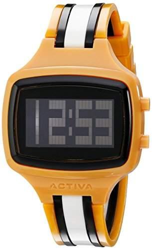 Activa Herren Plastik Armband Plastik Gehaeuse Mineral Glas Uhr AA401-023