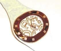 Aigner Damen-Armbanduhr Analog Quarz Leder A21240LH