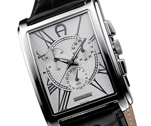 Aigner Armbanduhr schwarz -silber A32500
