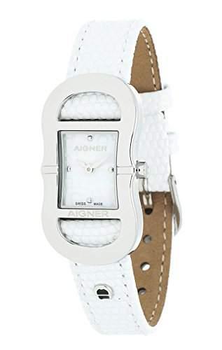 Aigner Damen Armbanduhr Cesena weiss A53202