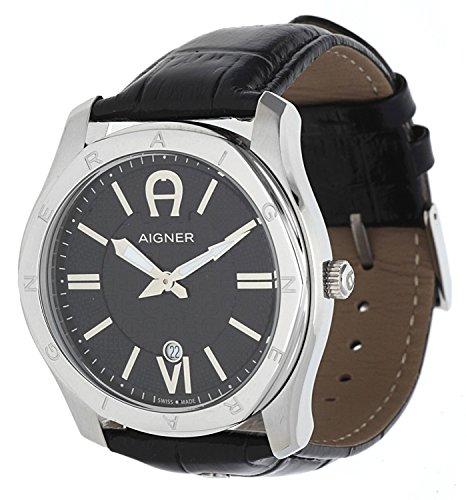 Aigner Herren Armbanduhr Lazio schwarz A42117