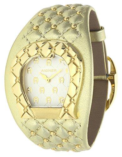 Orig AIGNER Uhr A41204 LEDER gold Perlen UVP 599 NEU 8454
