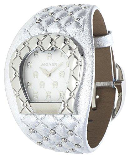 Orig AIGNER Uhr A41206 LEDER silber UVP 499 NEU 8452