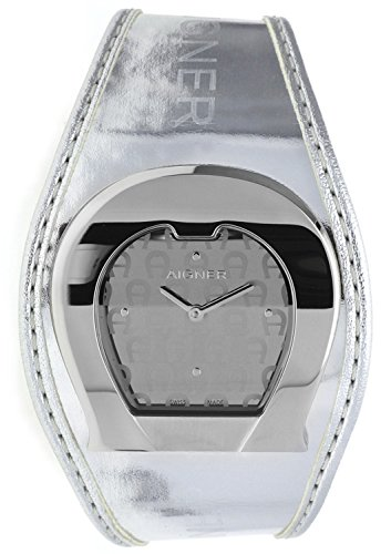 Orig AIGNER Uhr A41212 LEDER silber UVP 449 NEU 8456