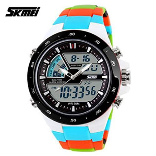 Soleasy SKMEI 1016 Sports Military Mode Herren Digitales Multifunktions Armbanduhren blau WTH0749