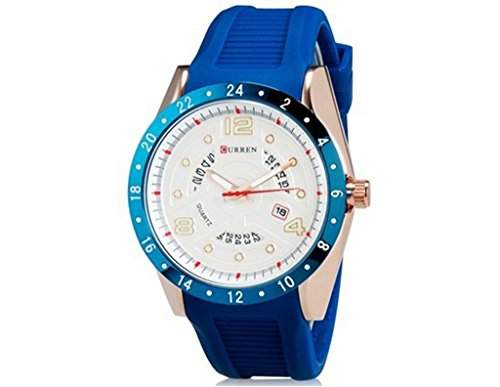 Laessig Soleasy-Mode fuer Maenner Japan Movement Quartz Kalender ArmbanduhrenWTH4650