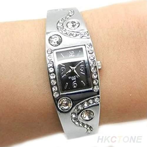 Soleasy Frauen Armband Stil Analog Quarz Metalluhr-WTH8038