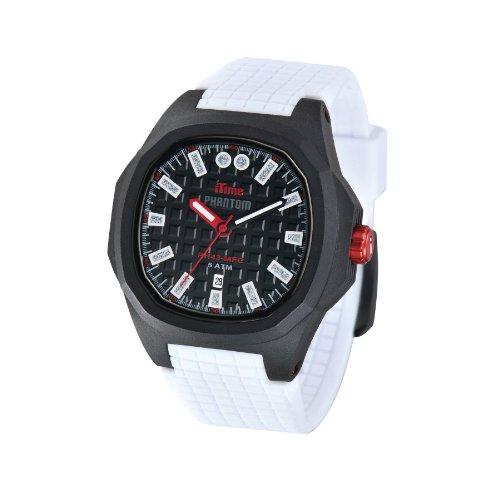 iTime Unisex Armbanduhr PH4900 C PH01T Analog Silikon weiss PH4300 PHD1