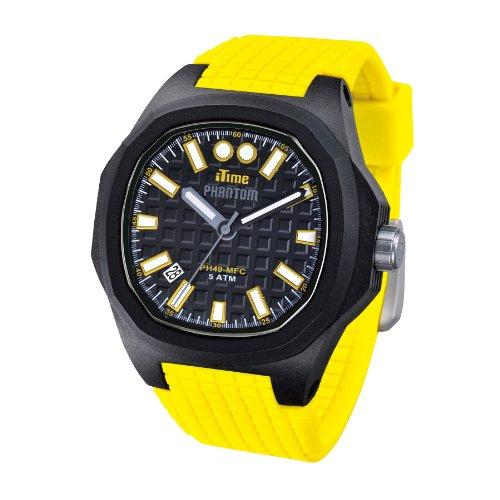 iTime Unisex Armbanduhr PH4900 C PH01T Analog Silikon PHN1 PH4901 Gelb