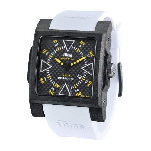 iTime Unisex Armbanduhr PH4900-C-PH01T Analog Silikon weiss MC4300-C-MC03