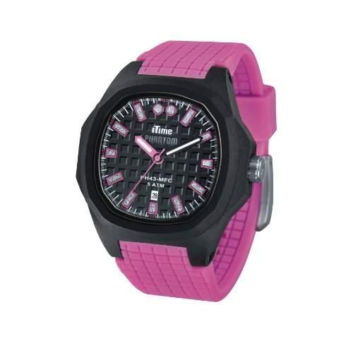 iTime Unisex-Armbanduhr PH4300-PHD2 Analog Silikon Rosa PH4300-PHD2