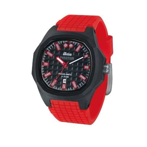 iTime Unisex Armbanduhr PH4900-C-PH01T Analog Quarz Silikon rot PH4300 PHD4-Gurt