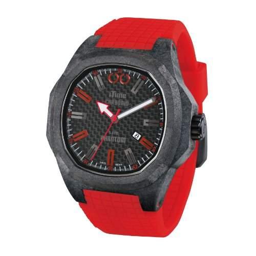 iTime Unisex Armbanduhr PH4900-C-PH01T Analog Silikon schwarz PH4900-C-PH02R Rot