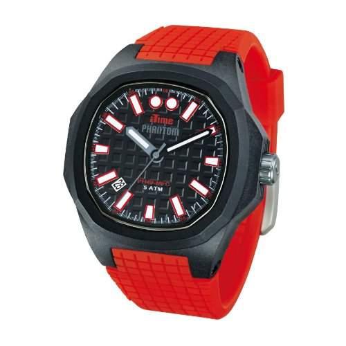 iTime Unisex Armbanduhr PH4900-C-PH01T Analog Quarz Silikon rot PH4901 PHN3-Gurt