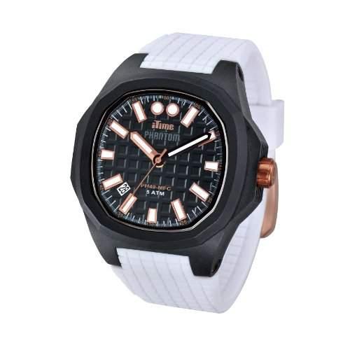 iTime Unisex Armbanduhr PH4900-C-PH01T Analog Silikon weiss PH4901-PHP1