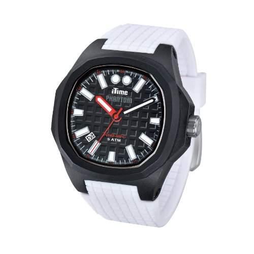 iTime Unisex Armbanduhr PH4900-C-PH01T Analog Silikon weiss PH4901-PHP3