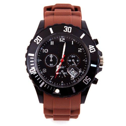 Silikon Uhr Chronopragh Braun Trend Watch Style Sport HOT