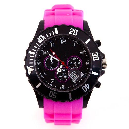 Silikon Uhr Chronopragh Pink Trend Watch Style Sport HOT