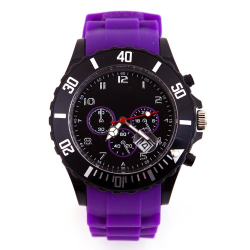 Silikon Uhr Chronopragh Lila Trend Watch Style Sport HOT
