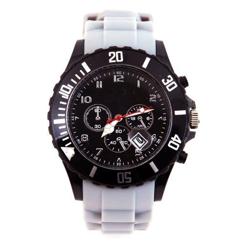 Silikon Uhr Chronopragh Grau Trend Watch Style Sport HOT