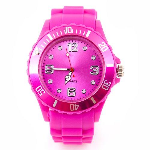 Silikon Uhr XXL Pink Trend Watch Big Face Style Sport Herrenuhr Damenuhr HOT