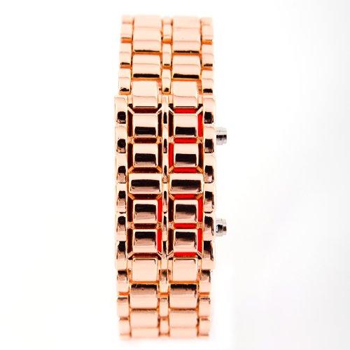 LED Uhr Gold Rot Trend Watch Face Style Sport Herrenuhr Damenuhr HOT
