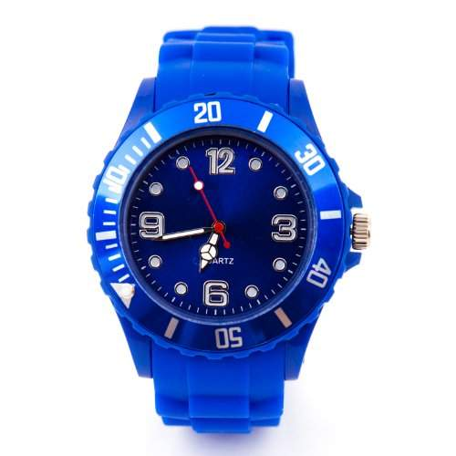 Silikon Uhr XXL Blau Trend Watch Big Face Style Sport Herrenuhr Damenuhr HOT
