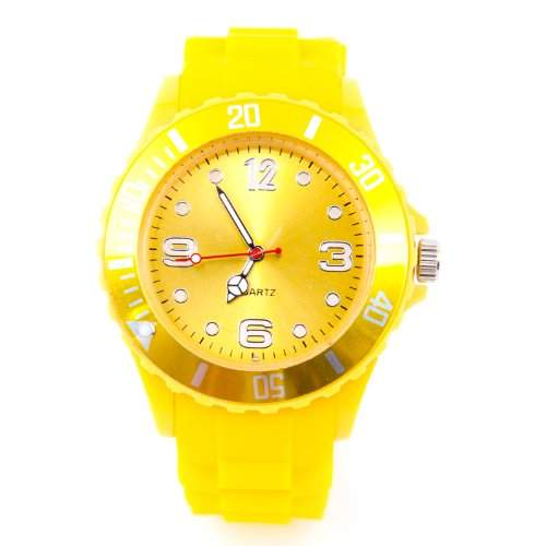Silikon Uhr XXL Gelb Trend Watch Big Face Style Sport Herrenuhr Damenuhr HOT
