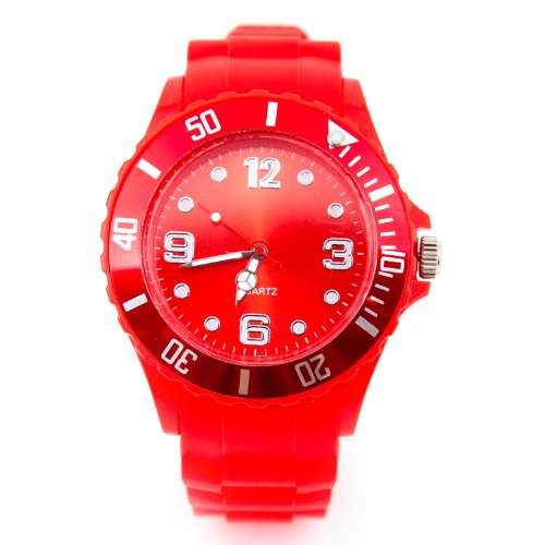 Silikon Uhr XXL Rot Trend Watch Big Face Style Sport Herrenuhr Damenuhr HOT
