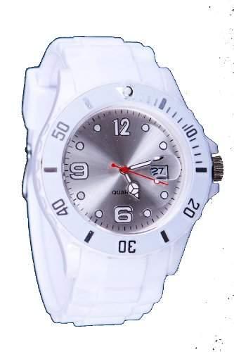 Silikon Uhr XXL Weiss  Weiss Trend Watch Style Sport Herrenuhr Damenuhr HOT