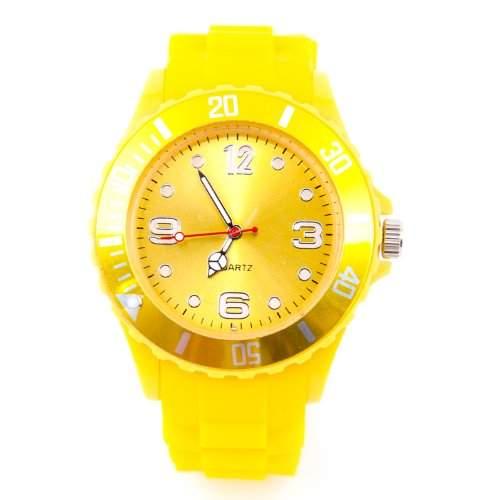 Kinder Silikon Uhr XXS Gelb Trend Watch Big Face Style Sport Herrenuhr Damenuhr HOT