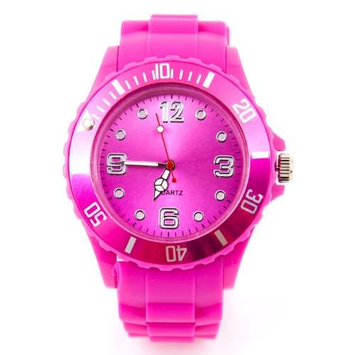 Kinder Silikon Uhr XXS Pink Trend Watch Big Face Style Sport Herrenuhr Damenuhr HOT