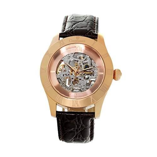 Continuum Herren-Armbanduhr Automatik Analog Skelettuhr Leder Braun - CO15001