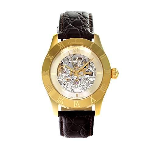 Continuum Herren-Armbanduhr Automatik Analog Skelettuhr Leder Braun - CO15003