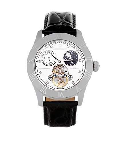 Continuum Herren-Armbanduhr Automatik Analog Leder Schwarz - CO15015B