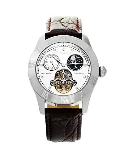 Continuum Herren-Armbanduhr Automatik Analog Leder Braun - CO15016