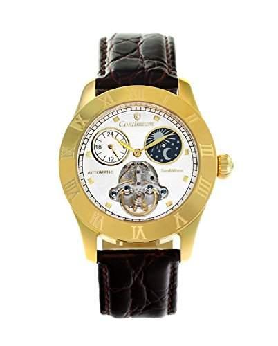 Continuum Herren-Armbanduhr Automatik Analog Leder Braun - CO15020