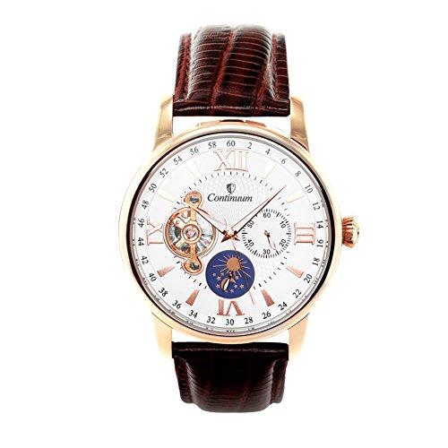 Continuum Herren Armbanduhr Automatik Analog Leder Braun C15H16