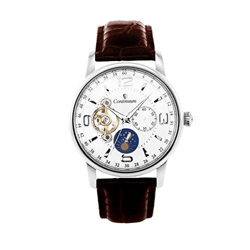 Continuum Herren Armbanduhr Automatik Analog Leder Braun C15H20