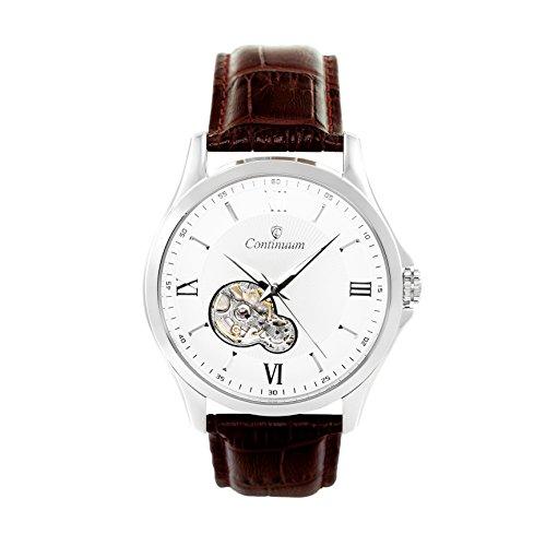 Continuum Herren Armbanduhr Automatik Analog Leder Braun C15H23