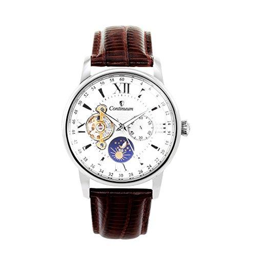 Continuum Herren Armbanduhr Automatik Analog Leder Braun C15H13