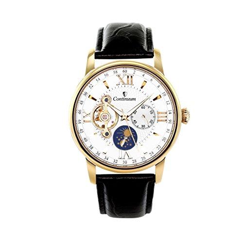 Continuum Herren Armbanduhr Automatik Analog Leder Schwarz C15H17