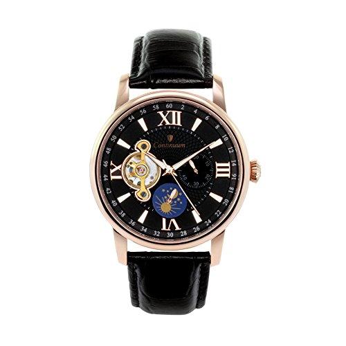 Continuum Herren Armbanduhr Automatik Analog Leder Schwarz C15H15