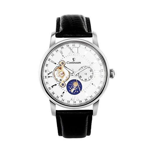 Continuum Herren Armbanduhr Automatik Analog Leder Schwarz C15H11